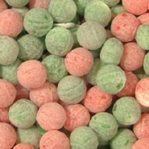 Watermelon & Apple Fizz Balls Sweets 100g